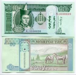 1000pcs 2017 Mongolie 10 Tugrik Banknote Monnaie Unc Bundle