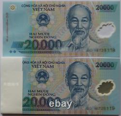 1000pcs (brick) Vietnam 20000 Banques Monnaie Vnd 20000 Vietnamien Dong Unc