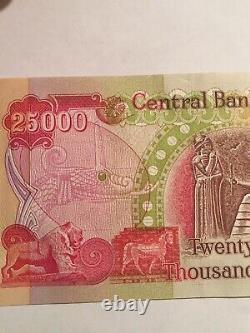 100 000 Dinars Irakiens Devise 4 X 25 000 Iqd Unc Nouveaux Billets De Banque Iraq Dinar