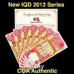 100 000 Monnaie Iraquienne (iqd) 2013 25000 Dinar Irakien (2013) X 4 Pcs Unc Coa