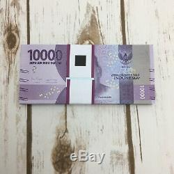 100 Pc X 10000 Rupiah Unc Uncirculated Banknote Monnaie Billets