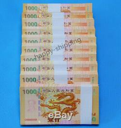 100 Pcs De La Chine Giant Dragon Test Banknote / Billets / Monnaie / Unc