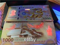 100 Pièces De La Chine Giant Dragon Test Banknote / Billets / Monnaie / Unc