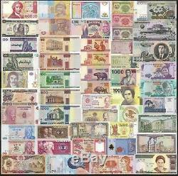 100 Sets X 50 Pcs Unc 28 Pays Différents Billets De Banque Monnaie Authentique Unc