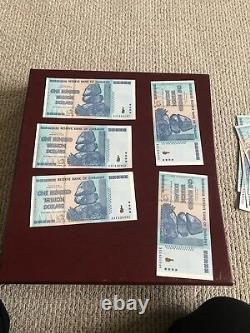 100 Trillion / 100 Trillion Dollar Zimbabwe Currency 2008 / Unc Note 5 Pièce