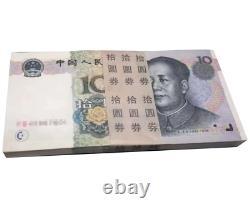 100pcs Chine 10 Yuan Rmb Banknote Currence 1999 Unc Bundle Continu
