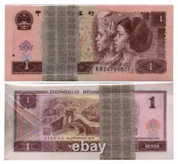 100pcs Chine 1 Dollars 1 Yuan Rmb Banknote Currence 1980 Unc Bundle Continu