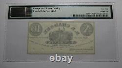 $. 10 1862 Vischers Ferry New York Ny Obsolète Billet De Banque De Devises! Unc64 Pmg
