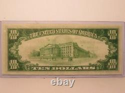 10 1929 Atlanta Georgia Monnaie Nationale Note Banque Bill Gem/unc