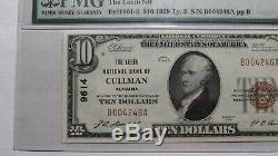 10 $ 1929 Cullman Alabama Al Monnaie Nationale De Billets De Banque Bill Ch. # 9614 Unc65epq