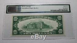 10 $ 1929 Easthampton Massachusetts Ma Banque Nationale Monnaie Note Le Projet De Loi 428 Unc62