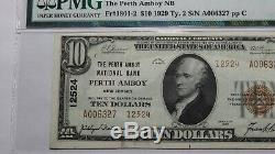 10 $ 1929 Perth Amboy New Jersey Nj Banque Nationale Monnaie Note Bill # 12524 Unc58