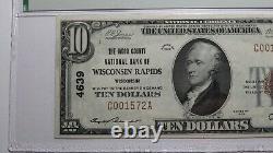 10 $ 1929 Wisconsin Rapids Wisconsin Monnaie Nationale Note De La Banque Bill #4639 Unc64