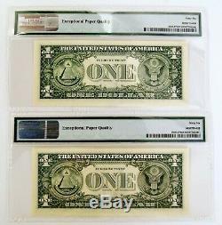 (10) 1 2003 $ Consécutive A Frn Atlanta (pmg Gem Unc 66 Epq) Star Note Monnaie