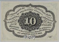 10 Cent Premier Numéro Fractional Currency Fr # 1242 Pmg Gem Unc 65 Epq (035)
