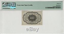 10 Cent Premier Numéro Fractional Postal Monnaie Fr. 1242 Pmg Gem Unc 65 Epq (001)