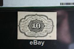 10 Cents Première Question Fractional Currency Pmg 62 Unc Fr. 1242 Avec Le Monogramme