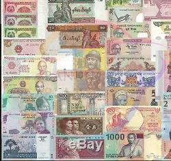 10 Jeux X 100 Pcs 35 Pays Différents Billets De Banque Du Monde Monnaie Authentique Unc