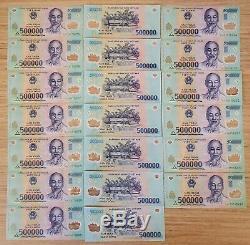 10 Millions De Dong = (20) 500000 Vietnam. Billets Polymer Monnaie Unc Notes