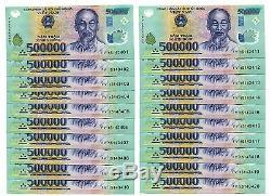 10 Millions De Dongs = 20 X 500 000 500 000 Vietnam Polymères Billets De Billets Unc