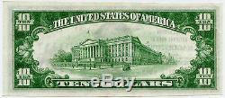 10 Usd En Monnaie Nationale, Deuxième Banque Nationale, Hagerstown, Maryland, Unc