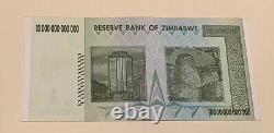 10pcs 10 Trillions Zimbabwe Dollar Aa Uncirculated 2008. Monnaie Monétaire Unc