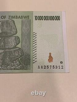 10x 10 Trillion Zimbabwe Dollar Aa Undistribué 2008. Monnaie Monétaire Unc (10pcs)