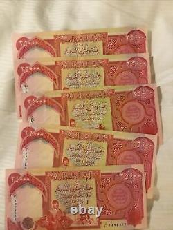 125000 Nouveau Dinar Irakien 5- 25 000 Iqd Unc Billets (authentique Monnaie Irakienne)