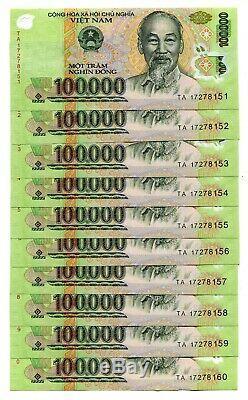 12 Millions Dong Banknote = 120 X 100 000 100 000 Dong Vietnam Monnaie Unc