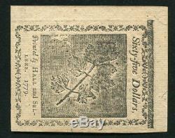 14 Janvier 1779 65 $ Sixty Five Dollars Continental Monnaie Remarque Unc