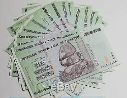 15/50 Trillions De Monnaie En Dollars Zimbabwéens. 10 20 100