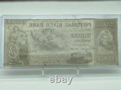 1854 $3 Potomac River Bank Georgetown, D.c. Obsolete Currency Note Unc