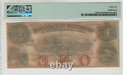 1857 $1 Western Exchange Omaha Nebraska Obsolète Monnaie Pmg Unc 64 Reste