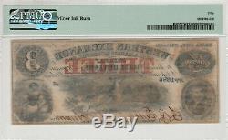 1857 $ 3 Western Nebraska Omaha Échange Obsolète Monnaie Pmg A Propos Unc 50