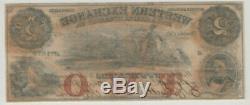 1857 $ Western 2 Omaha Nebraska Bourse Obsolète Monnaie Pmg A Propos Unc 53