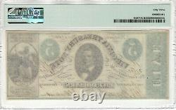 1862 $ 5 Virginia Trésor Note Richmond Obsolète Devise Pmg À Propos De Unc 53 (051)