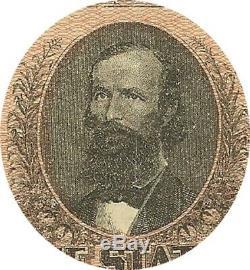 1864 $ 1 Confédéré Guerre Civile Monnaie Clay Clement Crisp Super Xf / Unc Note