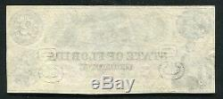 1864 $ 2 L'état De La Floride Tallahassee, Fl Note De Devise Obsolète À Propos De Unc