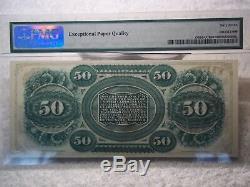 1872 50 $ Columbia S Caroline Obsolète Monnaie Pmg 67 Epq Superbe Gem Unc Beauty