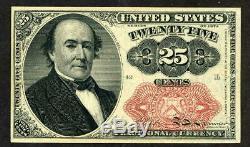 1874 25 Cents Cinquième Question Walker Fractional Currency Choice Unc Very Nice