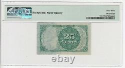 1874-76 Fr. 1308 25 Cents 5e Émission Monnaie Fractionnelle Pmg 67 Epq Super Gem Unc