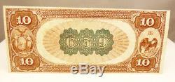 1884 Us $ 10 Monnaie Nationale 659 Poughkeepsie Ny Monnaie En Papier Note Au À Propos De Unc