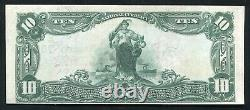 1902 10 $ Rs Banque Nationale Allemande Pittsburgh, Pa Monnaie Nationale Ch. #757 Unc