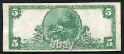 1902 $5 The Mobile National Bank Alabama Monnaie Nationale Ch #13195 À Propos D'unc