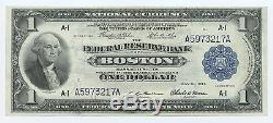 1914 1,00 $ Us National Bank - Réserve Fédérale Boston Billet Unc # 9418