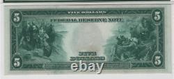 1914 $5 Federal Reserve Note Devise Philadelphie Fr. 855a Choix Pmg Unc Cu 64