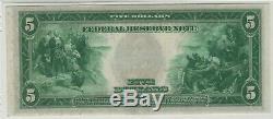 1914 5 $ Réserve Fédérale Note Devise Atlanta Fr. 867a Pmg Certifié A Propos Unc 55