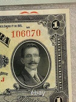 1915 Mexique, Estado De Sonora 1 Peso Note De Devise Pmg 65 Epq Gem Unc