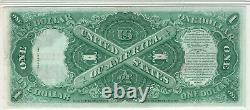 1917 $1 Legal Tender Red Seal Note Devise Fr. 36 Pmg Choice Unc 64 (005a)