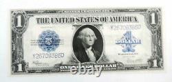 1923 Us Mint $ 1 Joint Bleu Certificat D'argent Billet De Banque Note Unc # 386d